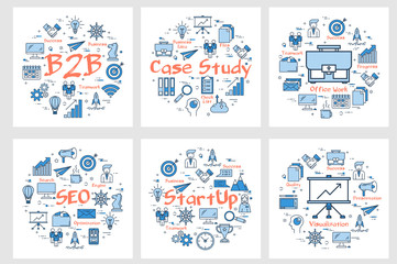 Banners - b2b concept, case study, startup and seo