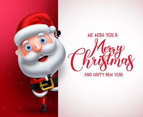 Search Photos Template Santa Claus Pointing Blank Card