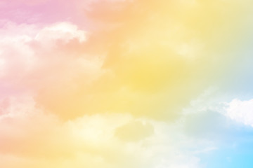 sun and cloud background with a pastel colored