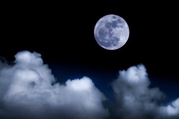 big moon background night sky