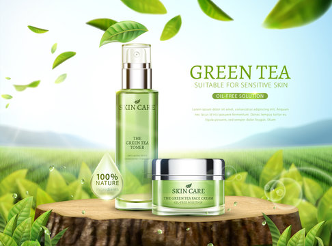 Green tea skincare ads