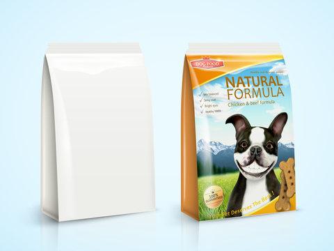 Dog food package design