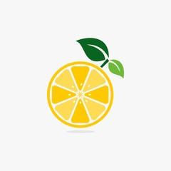 Lemon fruit logo design vector