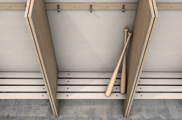 Change Room Cubicles With Baseball Bat