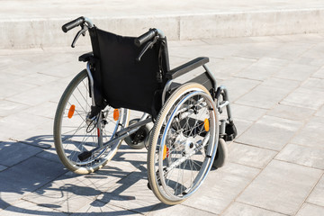 Empty modern wheelchair outdoors
