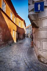 Cesky Krumlov street in the old town