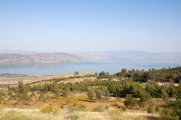 Sea of Galilee and the Golan Heights