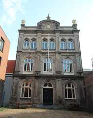 Old building of one of the first higher educaion schools in The Hague at the Bleijenburg in Den Haag, The Netherlands