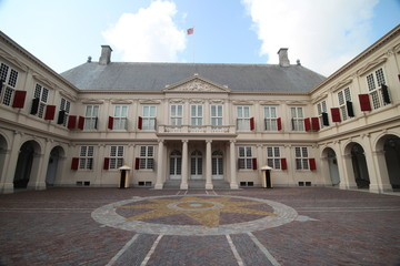The Royal working palace named Noordeinde in The Hague of king Willem Alexander in the Netherlands