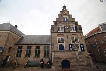 Ancient town hall of Haastrecht in the Netherlands in the center of the village