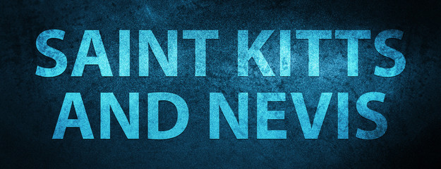 Saint Kitts and Nevis special blue banner background