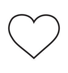 Heart icon vector linear pictogram isolated on white