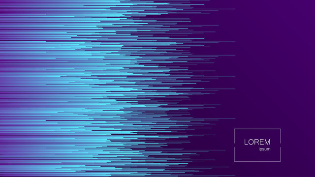 Dynamic Flow Bright Lines Abstract Background. Landing Page. Digital Glitch Effect