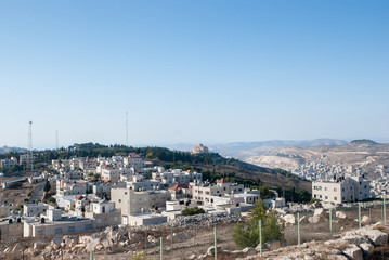Aerial view of Nablus City (Shechem) from Gerizim mount