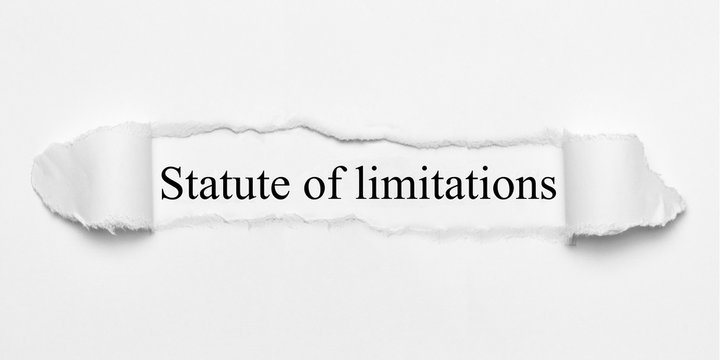 Statute of limitations on white torn paper