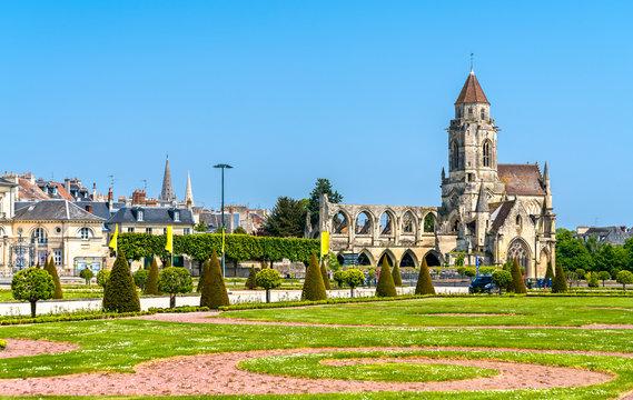 The Church of Saint-Etienne-le-Vieux in Caen, France