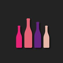 bouteille- silhouette vectorielle