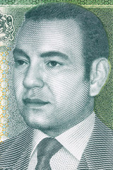 Mohammed VI of Morocco portrait from Moroccan money