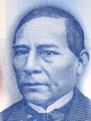 Benito Pablo Juarez García portrait from Mexican money