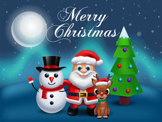 Santa Claus Lettering Design - Holiday Greeting