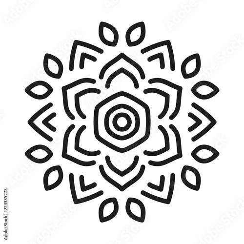 Simple Mandala Shape  Vector