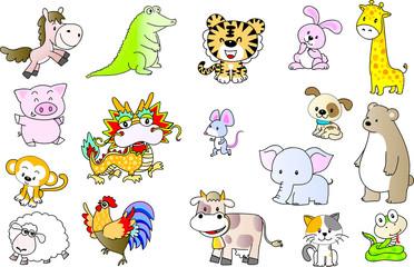 animals vector cartoon