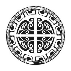 Maori / Polynesian Tattoo Style Ornament - Ready for Print and used for Stencyl as Custom Artwork