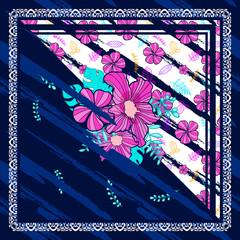 scarf floral pattern design