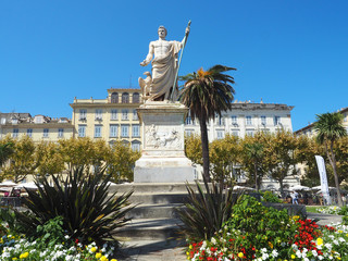 Napoleon-Statue in Bastia - Korsika