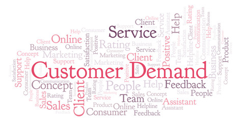 Customer Demand word cloud.