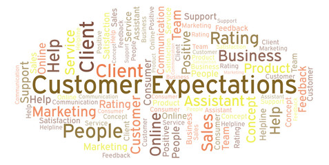 Customer Expectations word cloud.