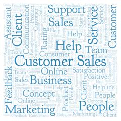 Customer Sales word cloud.