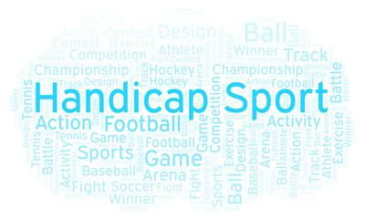 Handicap Sport word cloud.