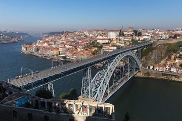 porto historic city bridge in portugal