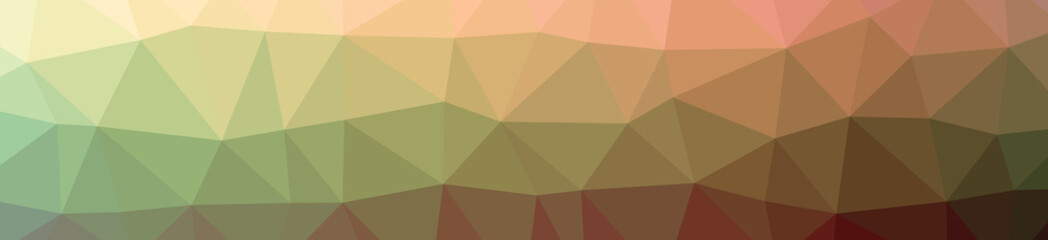 Illustration of abstract low poly orange banner background.
