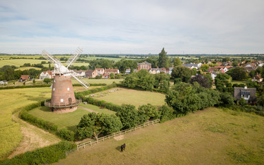 Thaxted Windmill and village, Essex, England