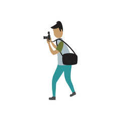 people carry camera graphic  design vector