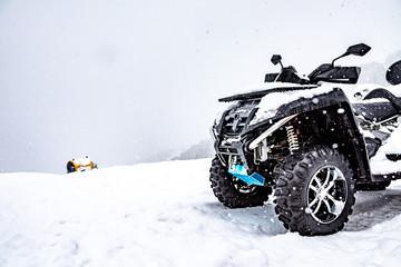 Quad on the ski slopes