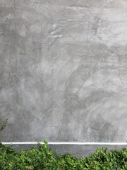 grey stucco or concrete wall background with copy space for text