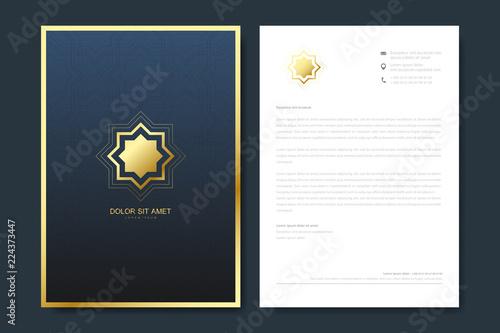 Elegant letterhead template design in minimalist style with logo elegant letterhead template design in minimalist style with logo golden luxury business design for cover maxwellsz