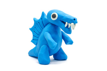 play doh Spinosaurus on white background