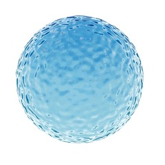 3D rendering of water ball with ripples on surface