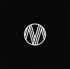 Initial letter M MM MMM OM MO minimalist art monogram shape logo, white color on black background