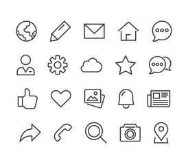 Set General Icons Editable Stroke. 48x48 Pixel Perfect. Vector