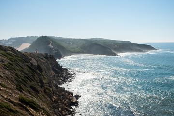 Lighthouse cliffs of S. Martinho do Porto