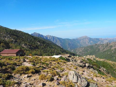 Korsika - Berghütte auf dem GR 20
