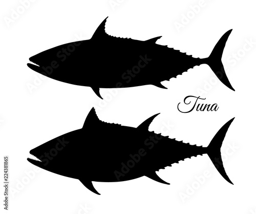silhouette of tuna stock image and royalty free vector files on