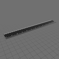 Plain drafting ruler