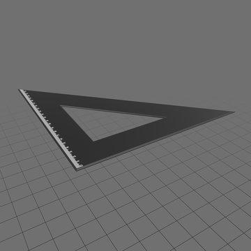 Isosceles triangle set square