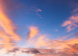 Beautiful autumn dawn before sunrise